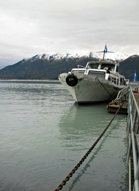 The boat is docked and ready to get us up close and personal with Perito Moreno.