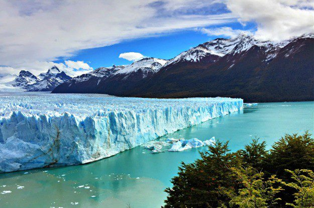 The north face of Perito Moreno Glacier seen from the viewing platforms.