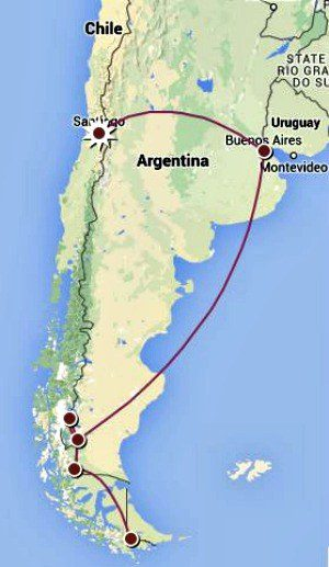 Patagonia Route Map