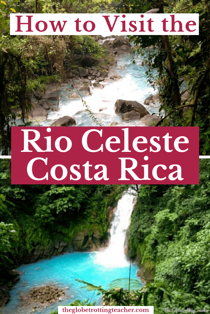 Planning travel to Costa Rica? Want to find hidden treasure in the Costa Rican Rain forest? Plan a couple days up north near Tenorio Volcano National Park to discover the Rio Celeste. Use this guide to plan where to stay, how to do the hike, and tips for getting around Costa Rica. #travel #costarica #centralamerica