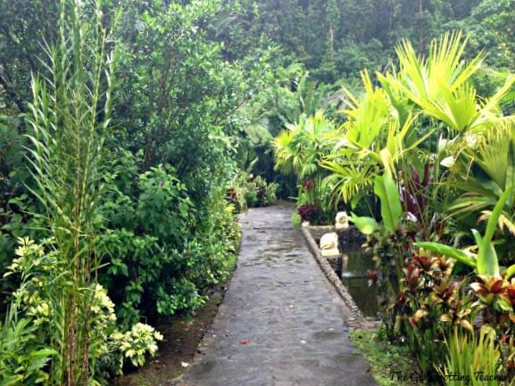 The path to our bungalow. Can you see it? That's exactly the point!