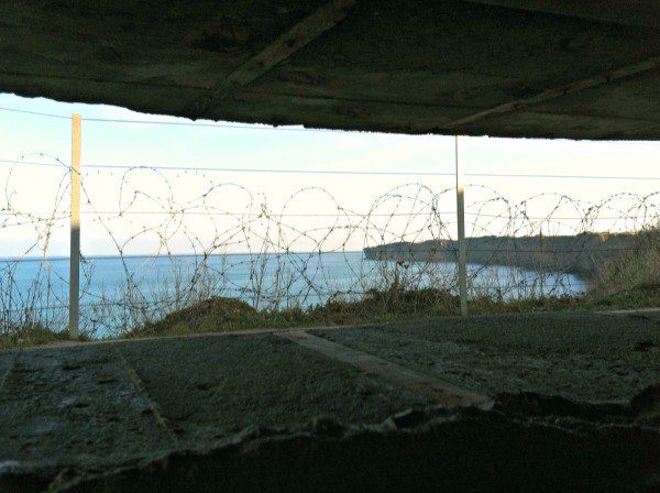 Can you imagine being in this German bunker watching the horizon in the Atlantic Ocean for any sign of an attack?