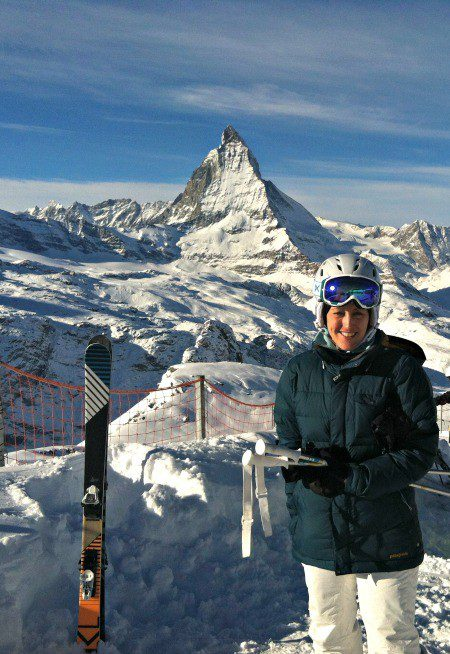 A clear, winter day allowing the Matterhorn to sparkle!