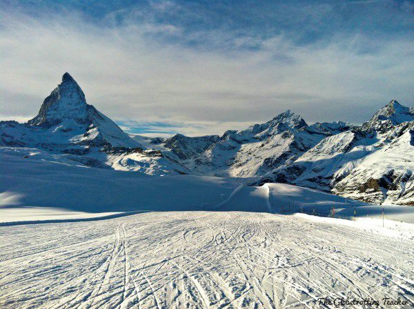 Skiing with the Matterhorn in full view for Christmas..absolutely the whitest, most beautiful Christmas landscape I've experienced.