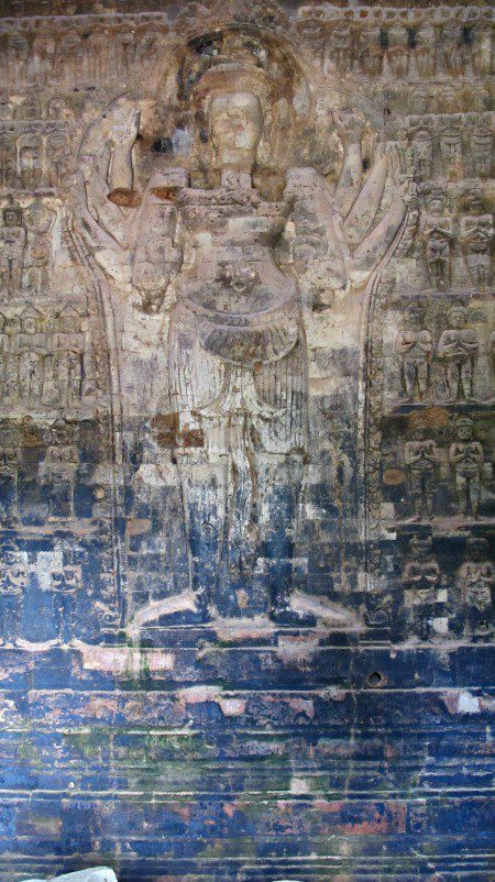 Apparition-like carving Angkor Wat Temples