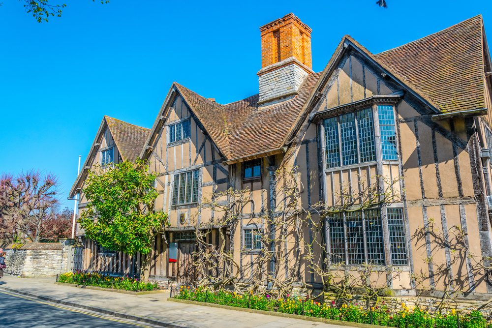 View of the Hall's Croft in Stratford upon Avon where daughter of William Shakespeare lived, England