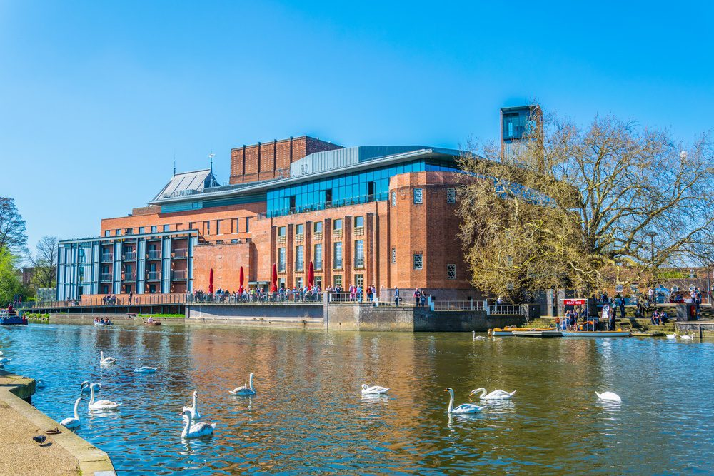 View of the Swan theatre hosting the Royal Shakespeare Company in Stratford upon Avon, England