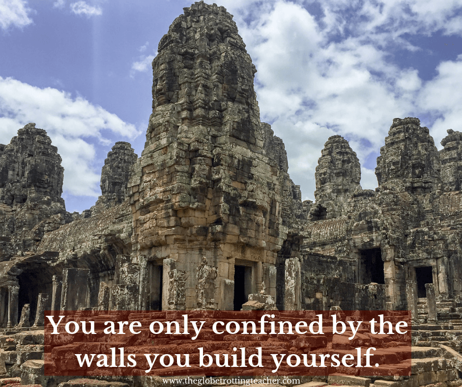 traveling alone quotes You are only confined by the walls you build yourself.