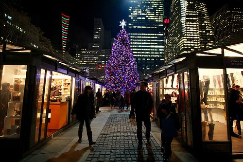 bryant park holiday markets photo