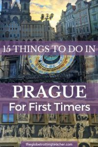 Planning to travel to Prague? Here are 15 Things to Do in Prague For First-Timers + a FREE Cheat Sheet to take with you on your Prague trip! | #Prague #CzechRepublic #Travel #bucketlist #wanderlust #EasternEurope #europe #europetravel #europeantravels