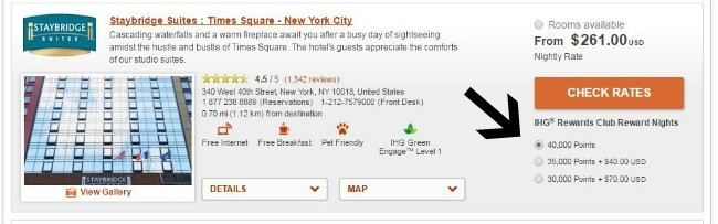 IHG Search Results Screenshot