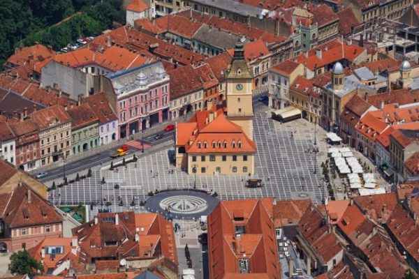 Brasov Closer Birds eye Romania