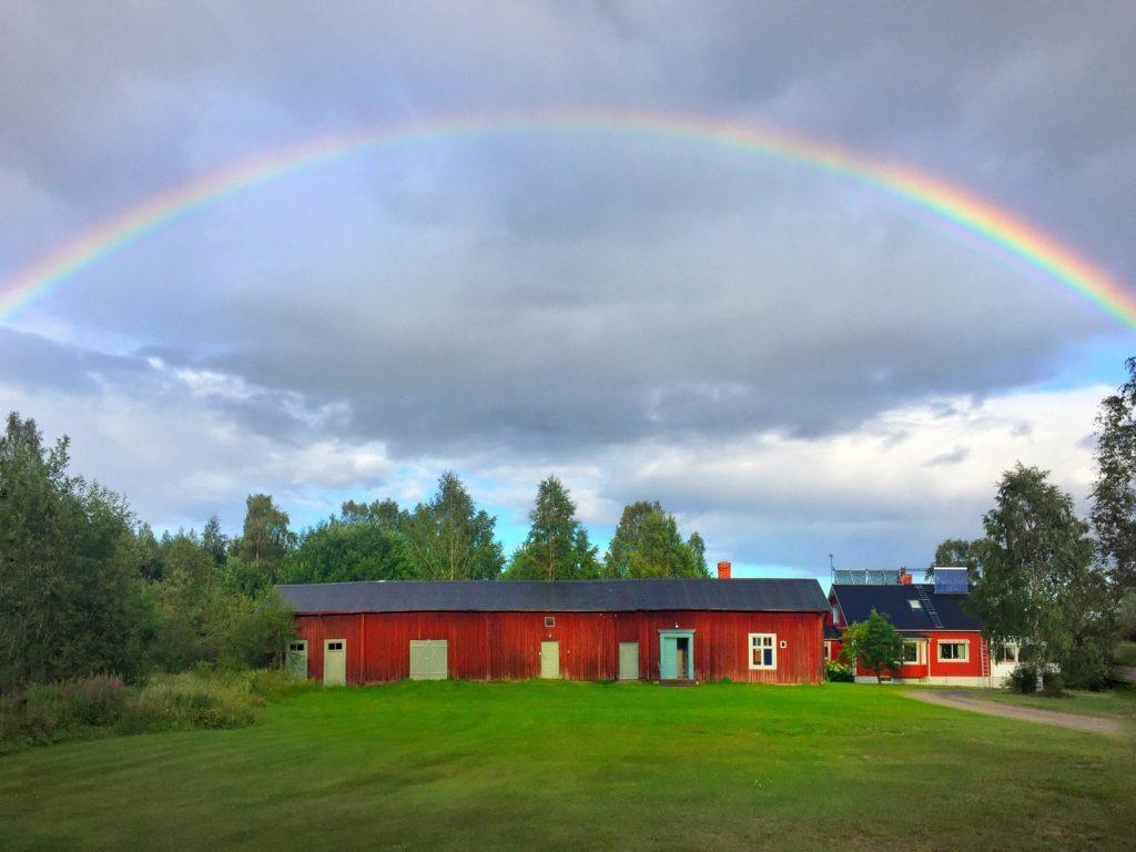 Skelleftea Swedish Lapland Rainbow