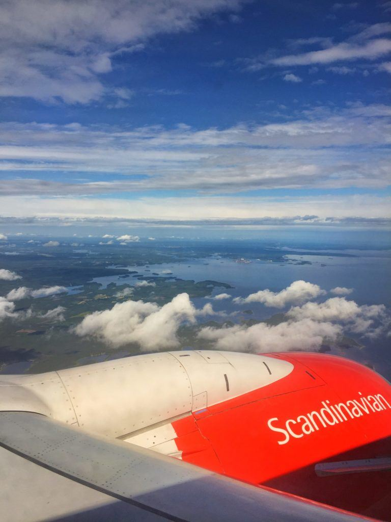 Skelleftea Swedish Lapland Scandinavian Airlines