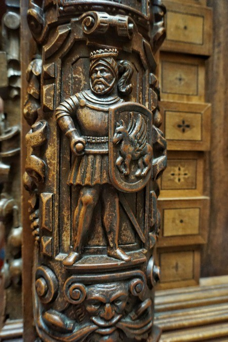 Sinaia Peles Castle wood carving