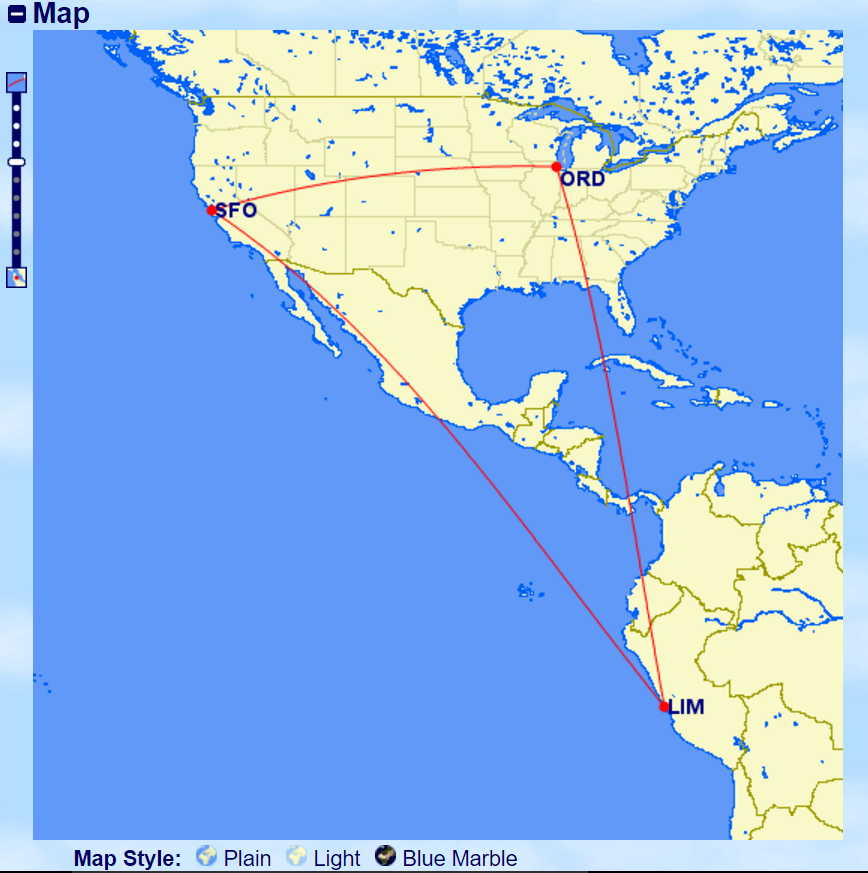 South America Route Map