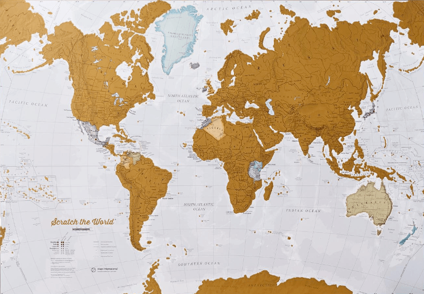 Etsy Scratchable World Map