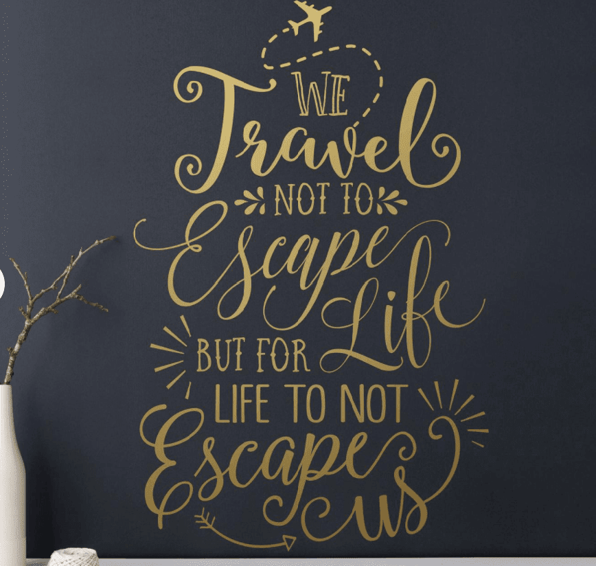 Etsy Travel Quote Wall Decal