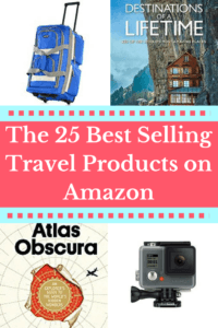 25 Best Selling Travel Products on Amazon- Are you shopping for travel gear either for yourself or as a gift? This guide makes finding the right travel items quick and easy to find with shortcuts to best-seller pages and travel-tested products. No more getting lost in webpage after webpage reading endless product reviews! #giftideas #travel #travelgear #travelaccessories #amazonbestsellers #luggage #packing #packingtips #packingguide #packinglist #giftguide
