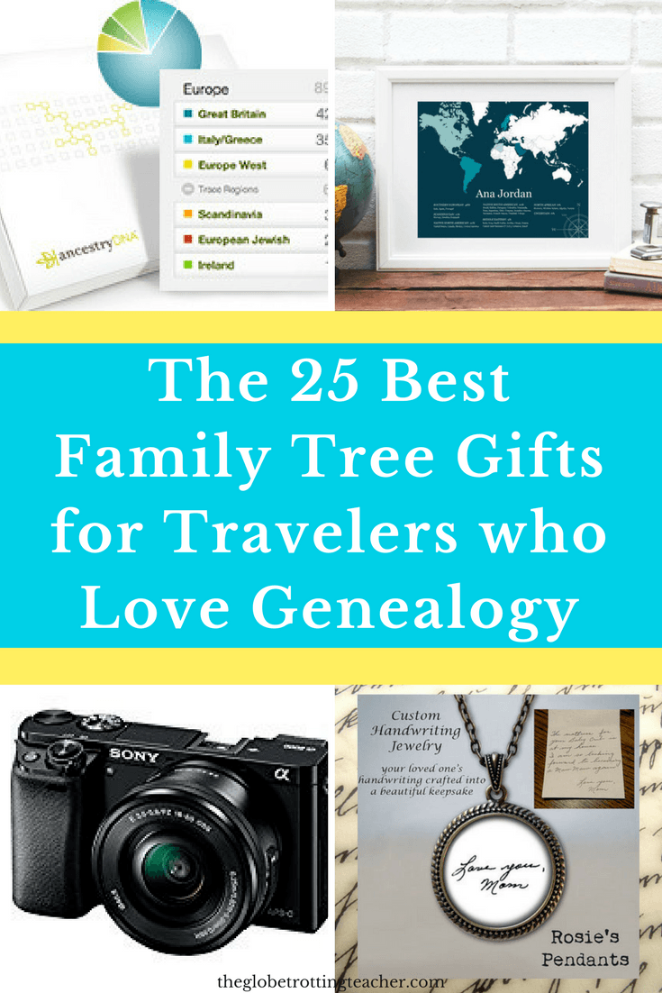 The 25 Best Family Tree Gifts for the Traveler who loves Genealogy
