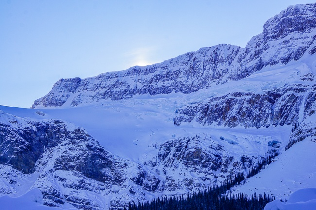 Banff Winter- Icefields Parkway Crowfoot Glacier