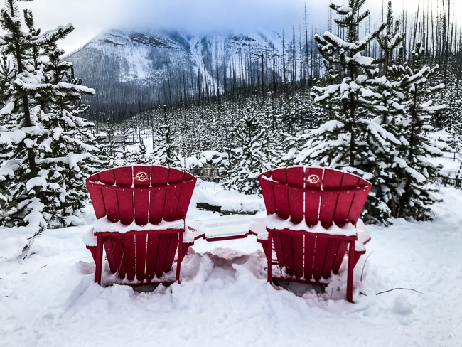 Banff Winter- Kootenay, Red Chairs
