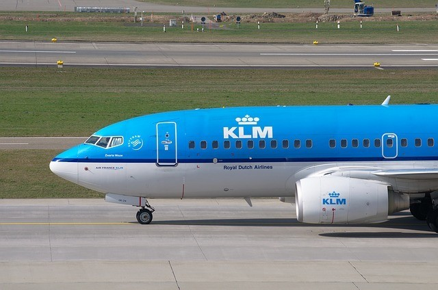 KLM Airplane Flying Blue
