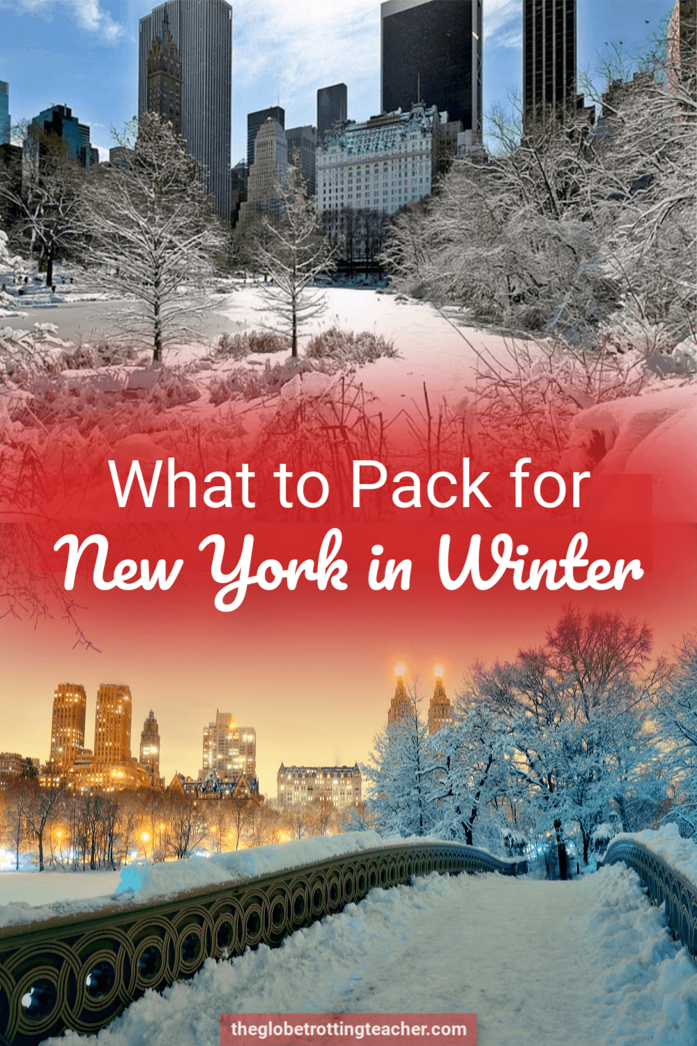 What to Wear in New York City in Winter Packing List Pin