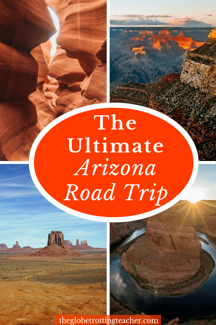 Map Of Arizona I40.How To Plan An Epic Arizona Road Trip The Globetrotting Teacher