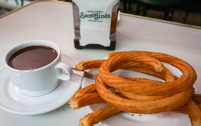 Where to eat in Madrid Chocolate and Churros