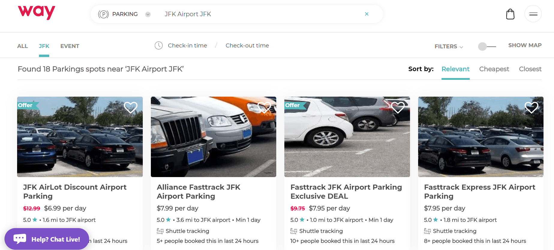 compare airport parking