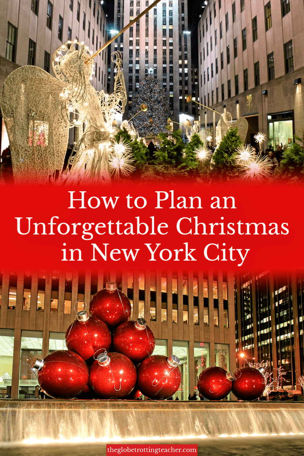 Christmas in New York City Pinterest Pin