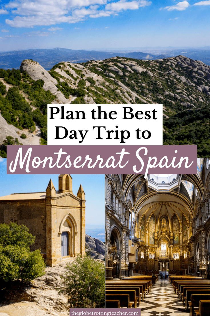How to Plan a Day Trip to Montserrat from Barcelona Pinterest Pin