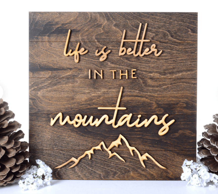 Etsy HIking Themed Decor