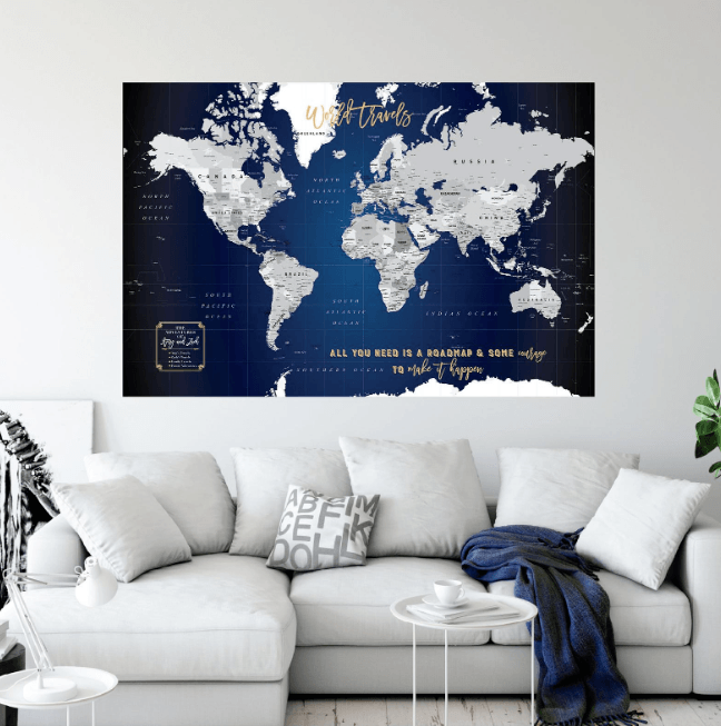 Etsy World Map