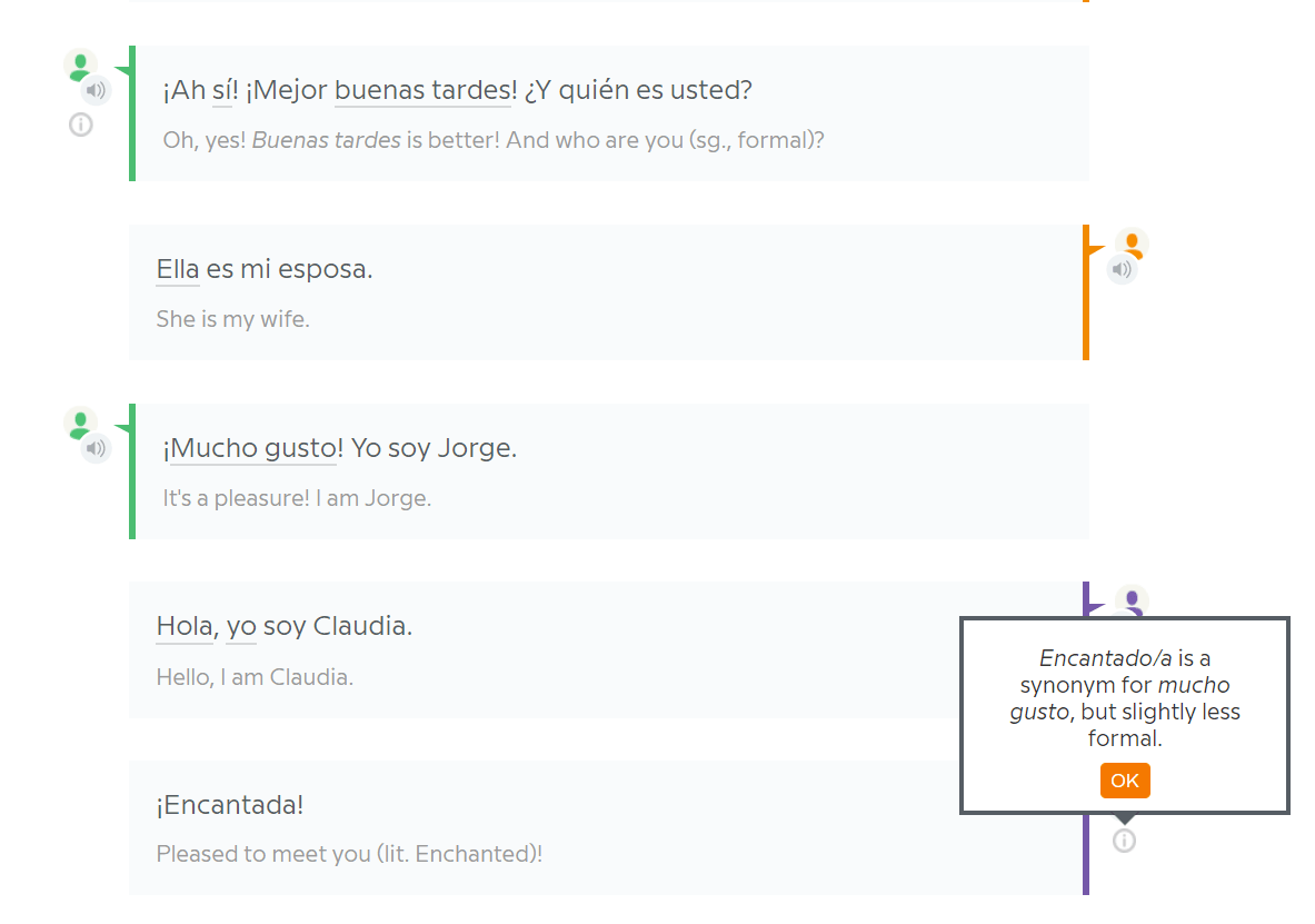 Babbel Spanish Conversation