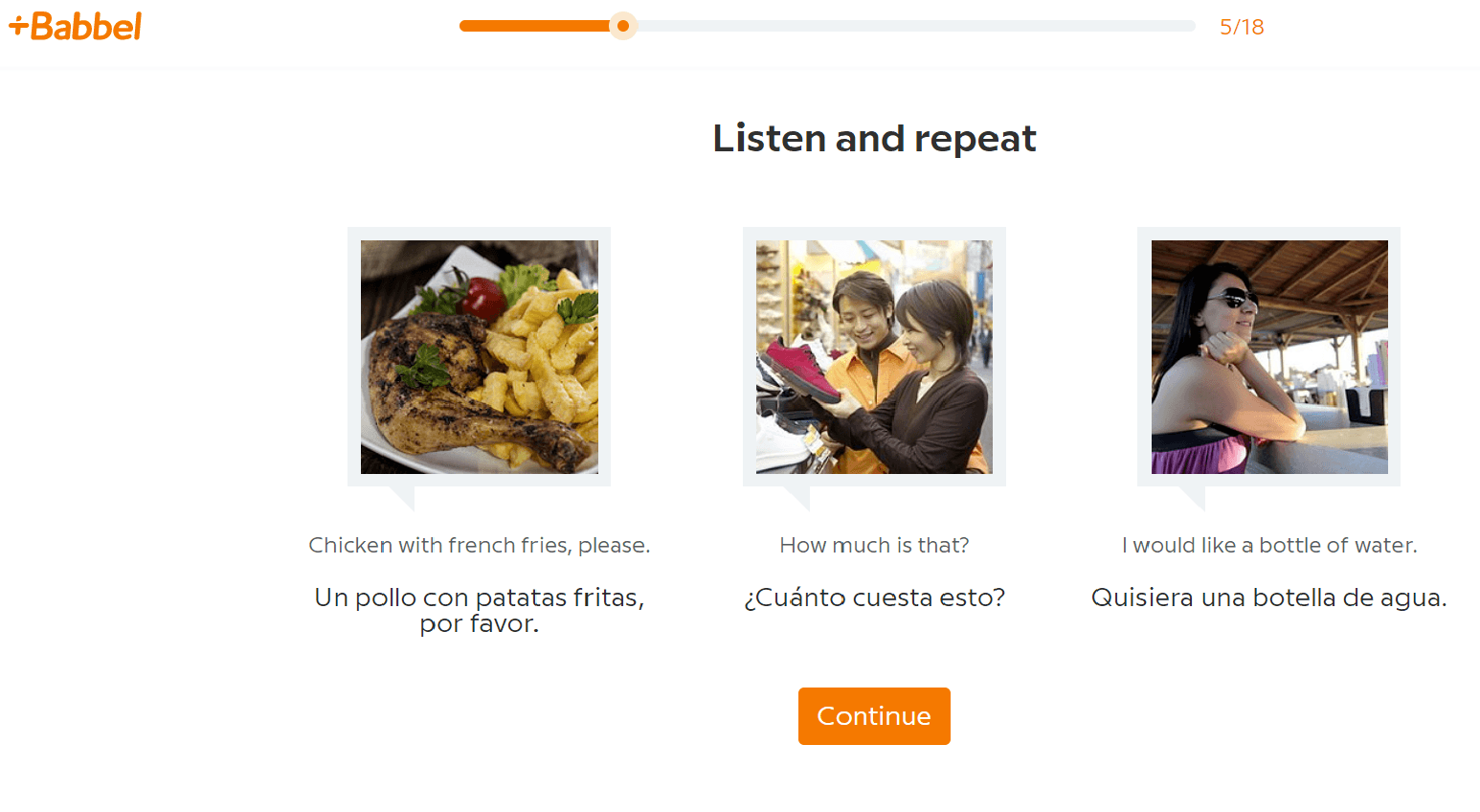 Babbel Spanish Sentences