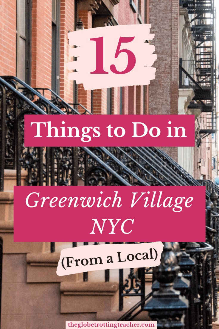 15 Things to Do in Greenwich Village NYC Pinterest Pin